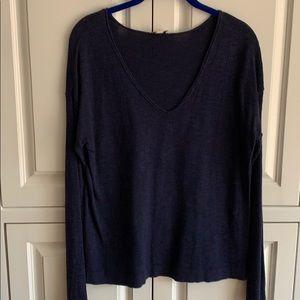 Navy blue V-neck sweater by Gap, size S